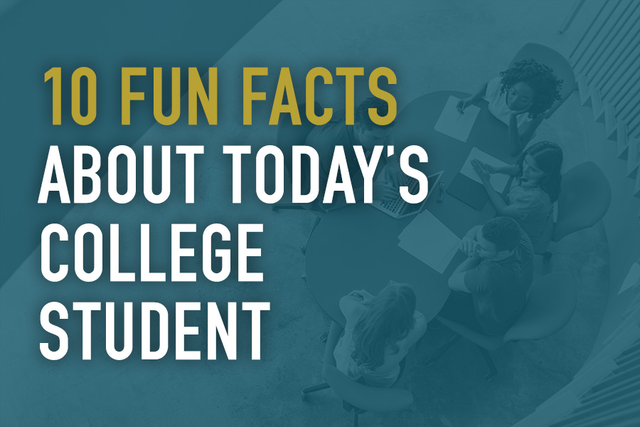 10 Fun Facts About Today's College Student