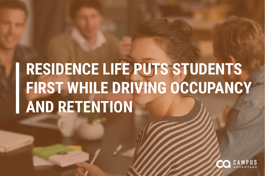 Residence Life Puts Students First While Driving Occupancy and Retention
