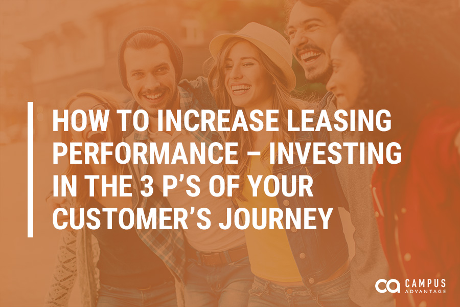 How to Increase Leasing Performance – Investing in the 3 P's of Your Customer's Journey