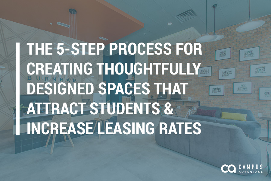 The 5-Step Process for Creating Thoughtfully Designed Spaces that Attract Students & Increase Leasing Rates