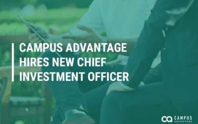 CAMPUS ADVANTAGE HIRES NEW CHIEF INVESTMENT OFFICER